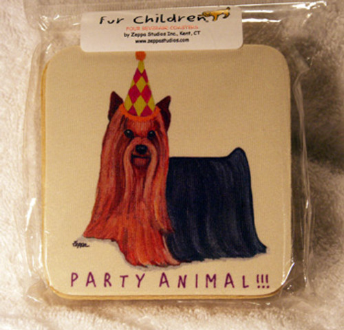 Fur Children Party Animal Coasters - Yorkshire Terrier (Yorkie) (PC0404148)