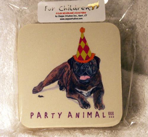 Fur Children Party Animal Coasters - Bull Mastiff (PC040433)