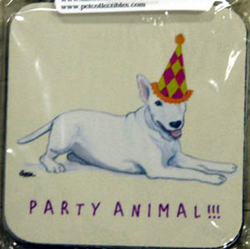 Fur Children Party Animal Coasters - Bull Terrier (PC040434)