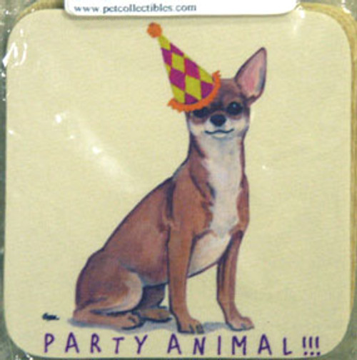 Fur Children Party Animal Coasters - Chihuahua (PC040440)