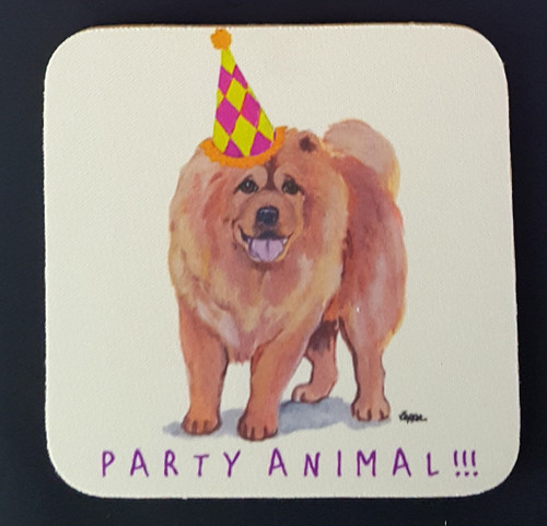 Fur Children Party Animal Coasters - Chow Chow (PC040443)