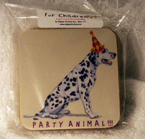 Fur Children Party Animal Coasters - Dalmatian (PC040452)