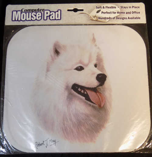 Mouse Pad Designs by Robert May - Samoyed (RMP39)