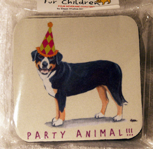 Fur Children Party Animal Coasters - Greater Swiss Mountain Dog (PC040471)