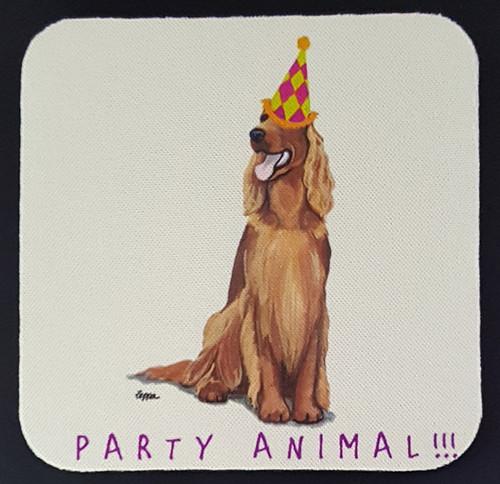 Fur Children Party Animal Coasters - Irish Setter (PC040474)
