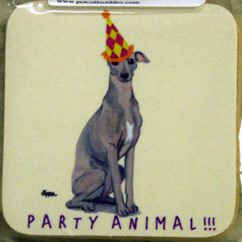 Fur Children Party Animal Coasters - Italian Greyhound (PC040478)