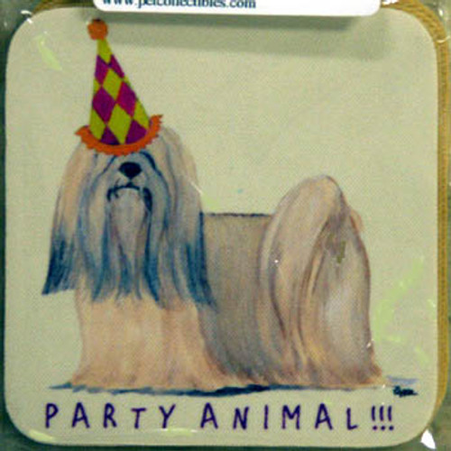 Fur Children Party Animal Coasters - Lhasa Apso (PC040491)