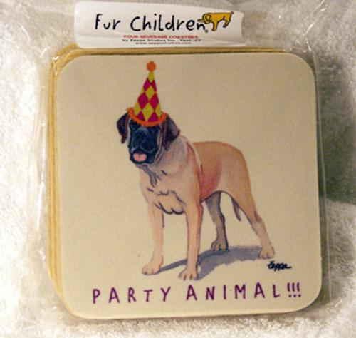 Fur Children Party Animal Coasters - Mastiff (PC040495)