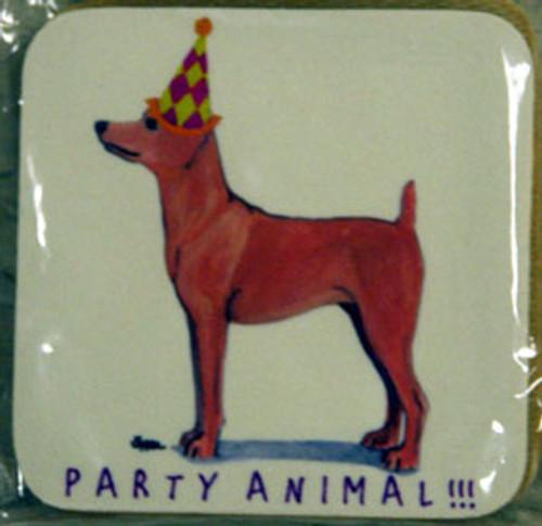 Fur Children Party Animal Coasters - Miniature Pinscher (ZPC040496)
