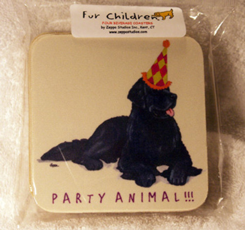 Fur Children Party Animal Coasters - Newfoundland (PC040497)