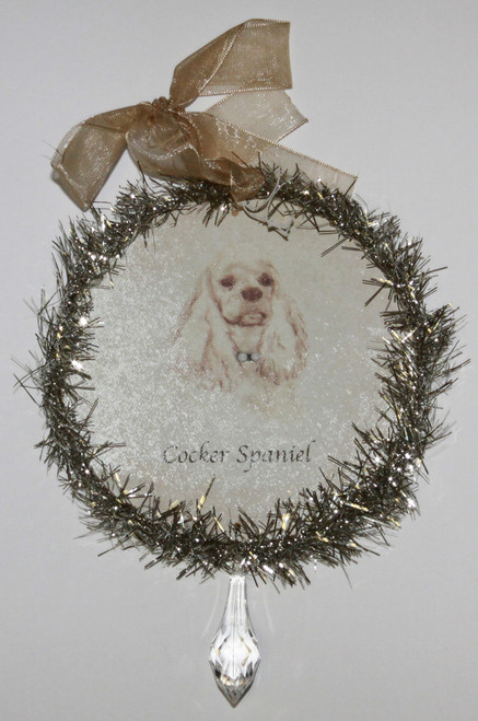 Rudolph & Me Dog Christmas Ornament - Cocker Spaniel (GW20) - Front