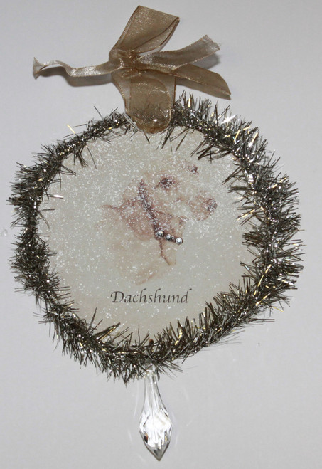 Rudolph & Me Dog Christmas Ornament - Dachshund (GW23) - Front