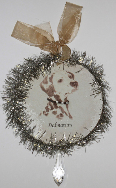Rudolph & Me Dog Christmas Ornament - Dalmatian (GW24) - Front