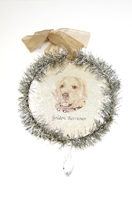 Rudolph & Me Dog Christmas Ornament - Golden Retriever (GW27) - Front - Purple Turtle Gifts - Rudolph & Me Dog Christmas Ornament - Golden