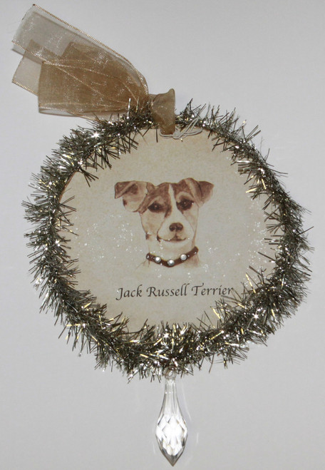 Rudolph & Me Dog Christmas Ornament - Jack Russell Terrier (GW29) - Front