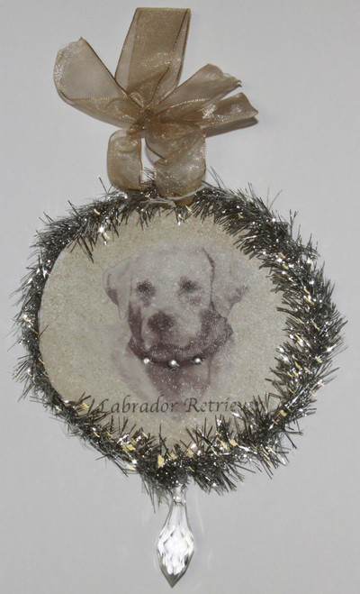 Rudolph & Me Dog Christmas Ornament - Labrador Retriever (GW31) - Front
