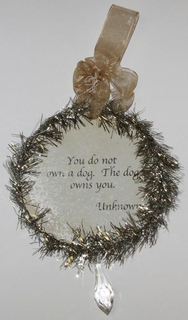 Rudolph & Me Dog Christmas Ornament - Papillion