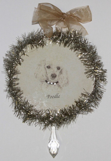 Rudolph & Me Dog Christmas Ornament - Poodle (GW36) - Front