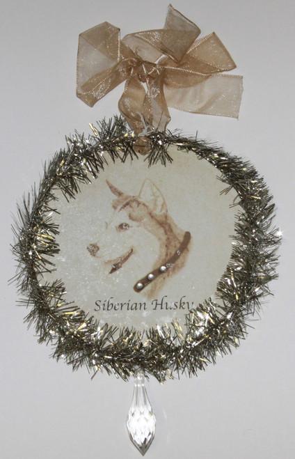 Rudolph & Me Dog Christmas Ornament - Siberian Husky (GW43) - Front