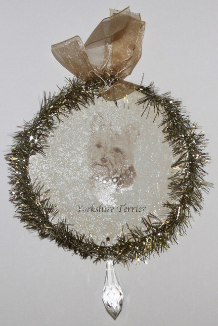 Rudolph & Me Dog Christmas Ornament - Yorkshire Terrier (Yorkie) (GW47) - Front