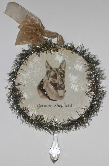Rudolph & Me Dog Christmas Ornament - German Shepherd Dog (GW48) - Front