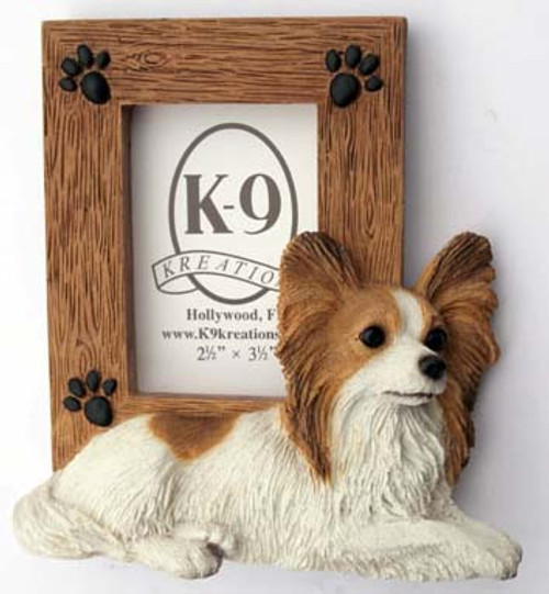 K9 Creation 2.5x2.5 Picture Frame - Papillon (Brown) (SF52BN)
