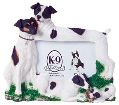 K9 Creation 4x6 Picture Frame - Jack Russell Terrier (Black) (F23BL)