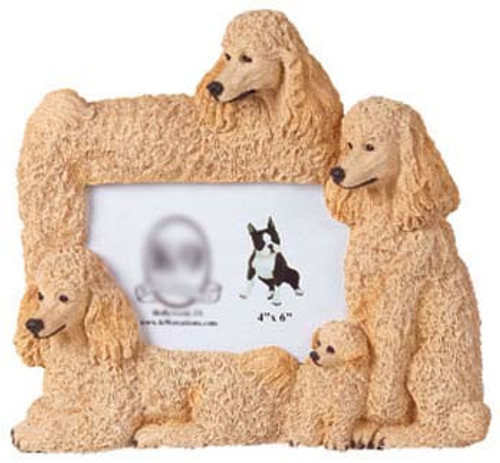 K9 Creation 4x6 Picture Frame - Poodle (Apricot) (F30A)