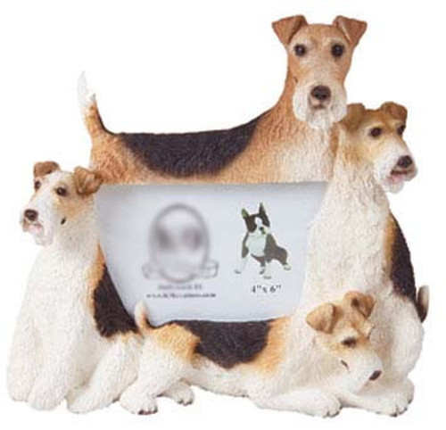 K9 Creation 4x6 Picture Frame - Wire Fox Terrier (F79)