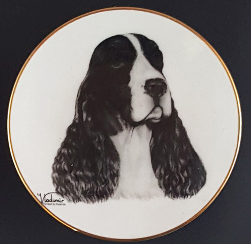 Mini Best In Show 4in Porcelain Plate - Springer Spaniel (016 Springer)