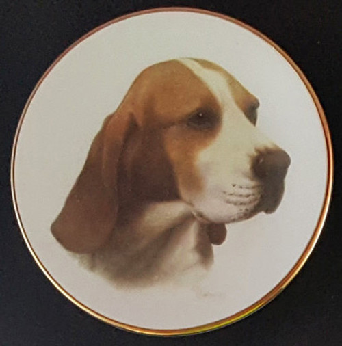 Classic Collection 4in Color Mini Porcelain Plate-Beagle (316 Beagle)
