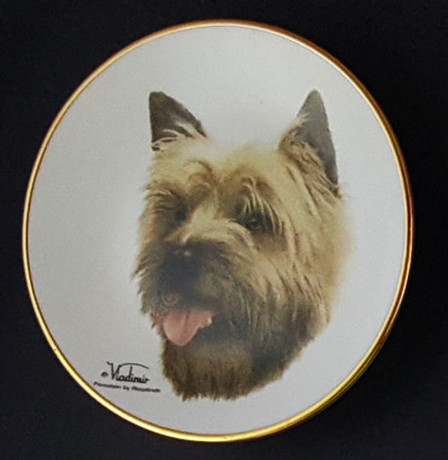 Classic Collection 4in Color Mini Porcelain Plate-Cairn Terrier (316 Cairn)
