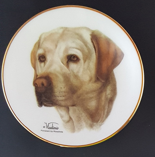 Classic Collection 4in Color Mini Porcelain Plate-Labrador Retriever (Yellow) (316 Y Lab)