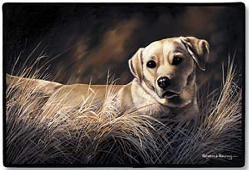 Fiddlers Elbow Yellow Labrador Retriever Doormat (D30)