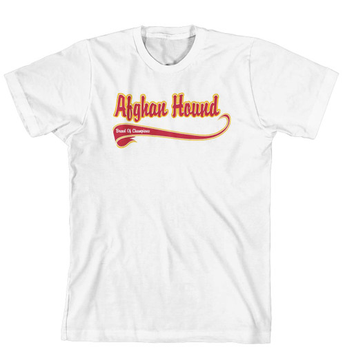 Breed of Champion Tee Shirt - Afghan Hound (170-0001-102)