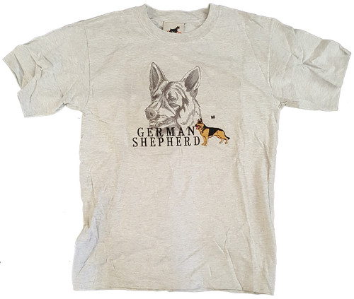 Gr8 Dog Classic Line Grey T-Shirt - German Shepherd