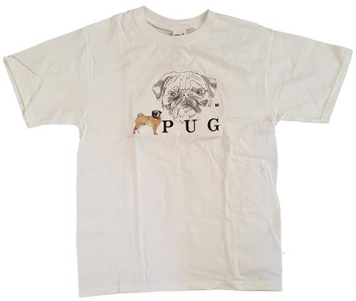 Gr8 Dog Classic Line T-Shirt - Pug (1015WH)