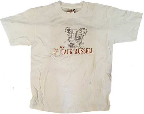 Gr8 Dog Classic Line T-Shirt - Jack Russell (1016WH)