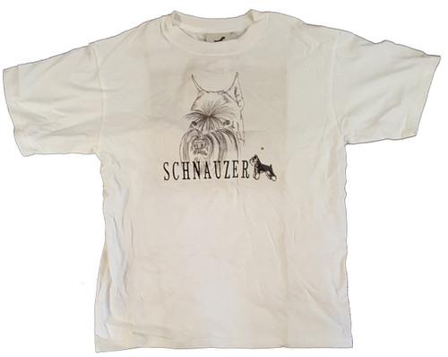 Gr8 Dog Classic Line T-Shirt - Schnauzer (1020WH)