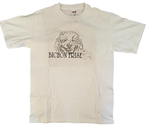 Gr8 Dog Classic Line T-Shirt - Bichon Frise (1022WH)