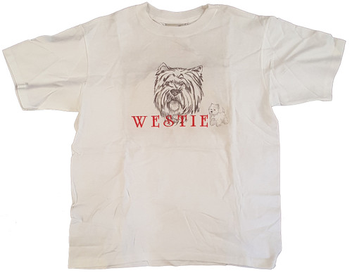 Gr8 Dog Classic Line T-Shirt - West Highland Terrier (Westie) (1031WH)