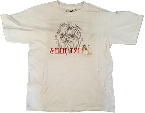 Gr8 Dog Classic Line T-Shirt - Shih Tzu (1033WH)