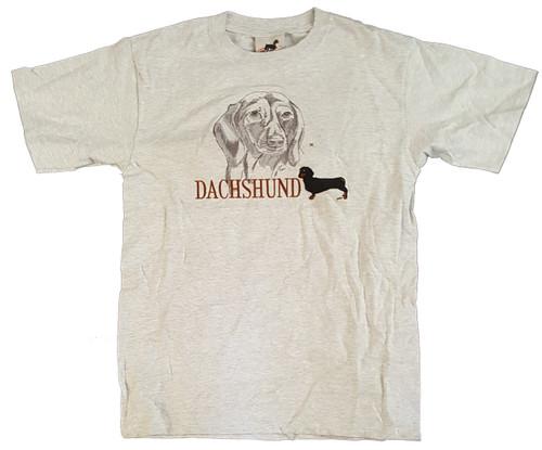 Gr8 Dog Classic Line T-Shirt - Dachshund (Black) (1042AS)