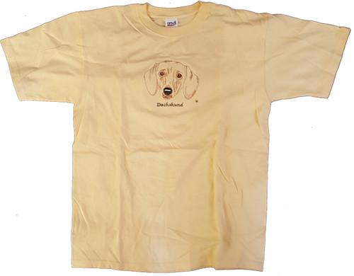 Gr8 Dog Brand Eyes Design Dachshund T-Shirt (7101YH)