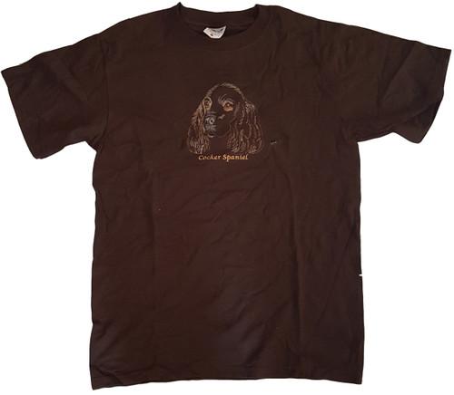 Gr8 Dog Brand Eyes Design Cocker Spaniel T-Shirt (7108BW)