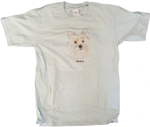 Gr8 Dog Brand Eyes Design Yorkshire Terrier (Yorkie) T-Shirt (7113FS)