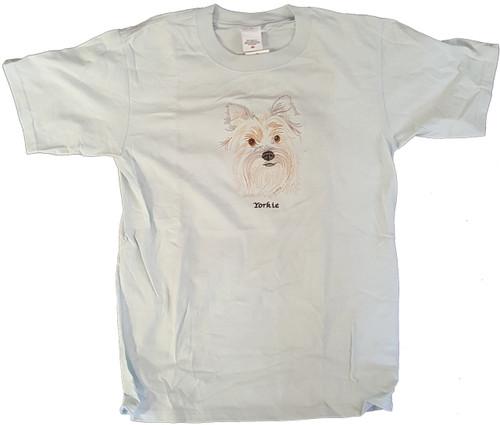 Gr8 Dog Brand Eyes Design Yorkshire Terrier (Yorkie) T-Shirt (7113FS)