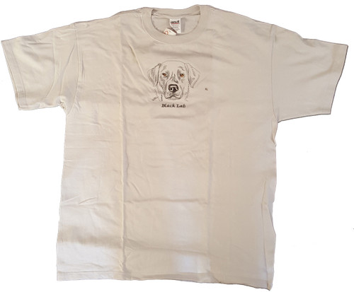 Gr8 Dog Brand Eyes Design Black Labrador Retriever T-Shirt (7114HI)
