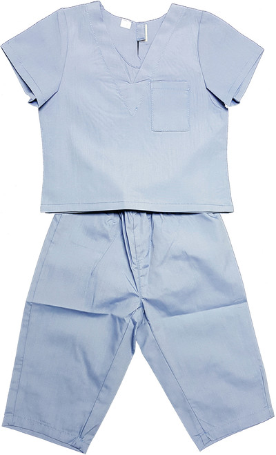 Childrens Infant Toddler Medical Scrubs Costume - Color Blue