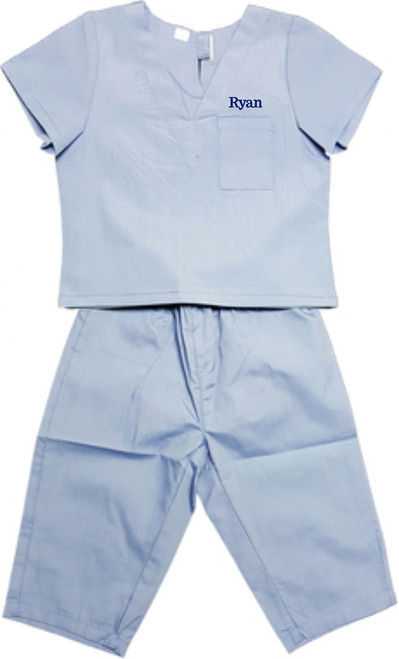 Childrens Infant Toddler Medical Scrubs Costume - Color Blue, Size 4T